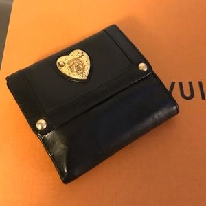AUTH GUCCI Babouska Leather Heart Wallet